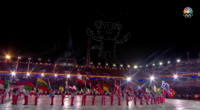PyeongChang 2018 Winter Olympics Closing Ceremony tiger drones in the sky