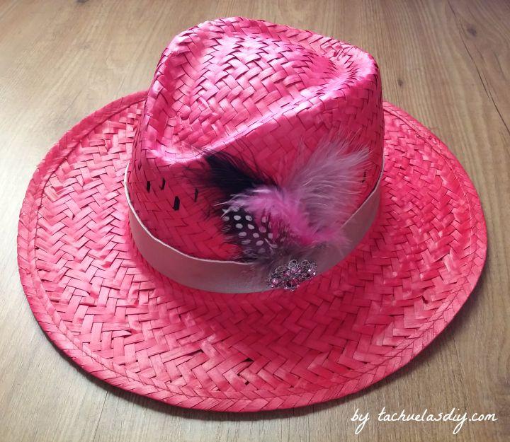 5fa0402c8cb23 3 ideas diy para customizar sombreros de paja tipo cowgirl o borsalino con  materiales que tengamos
