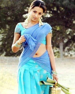 Trisha hot saree navel show