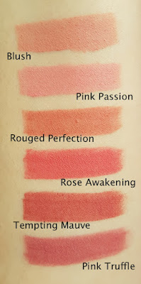 Avon True Colour Perfectly Matte Lipstick Blushed Shades swatches