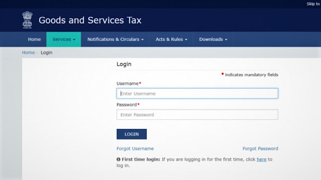 GST Login Portal gst.gov.in registration & services