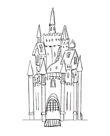 Шаблоны замка снежной королевы, надписью вместе поздравления