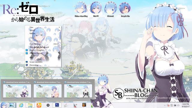 Windows 8/8.1 Theme REM - ReZero kara Hajimeru Isekai Seikatsu by Enji Riz