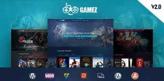 Download Gamez v1.0 Games Wordpress Theme Free
