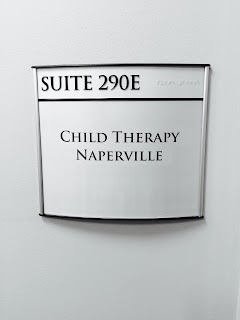 Child Therapy Naperville child therapy downtown Naperville door sign