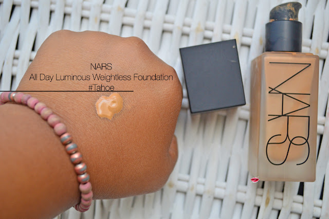 Swatch All day Luminous Weightless Foundation Tahoe, Nars