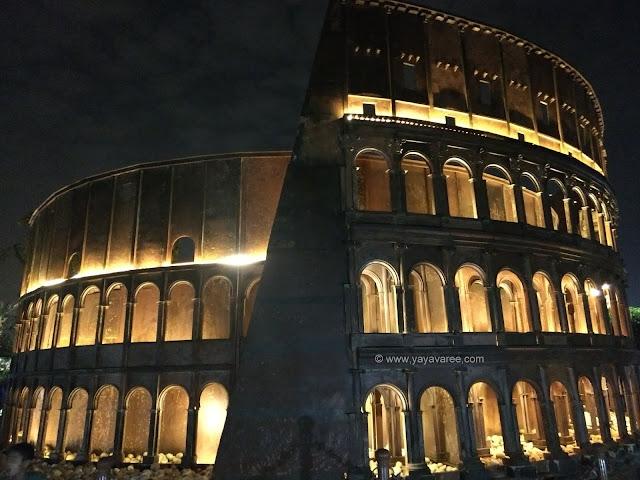 वेस्ट टू वंडर पार्क में रोम का कोलोसम, Colosseum of Rome @ Waste to wonder park