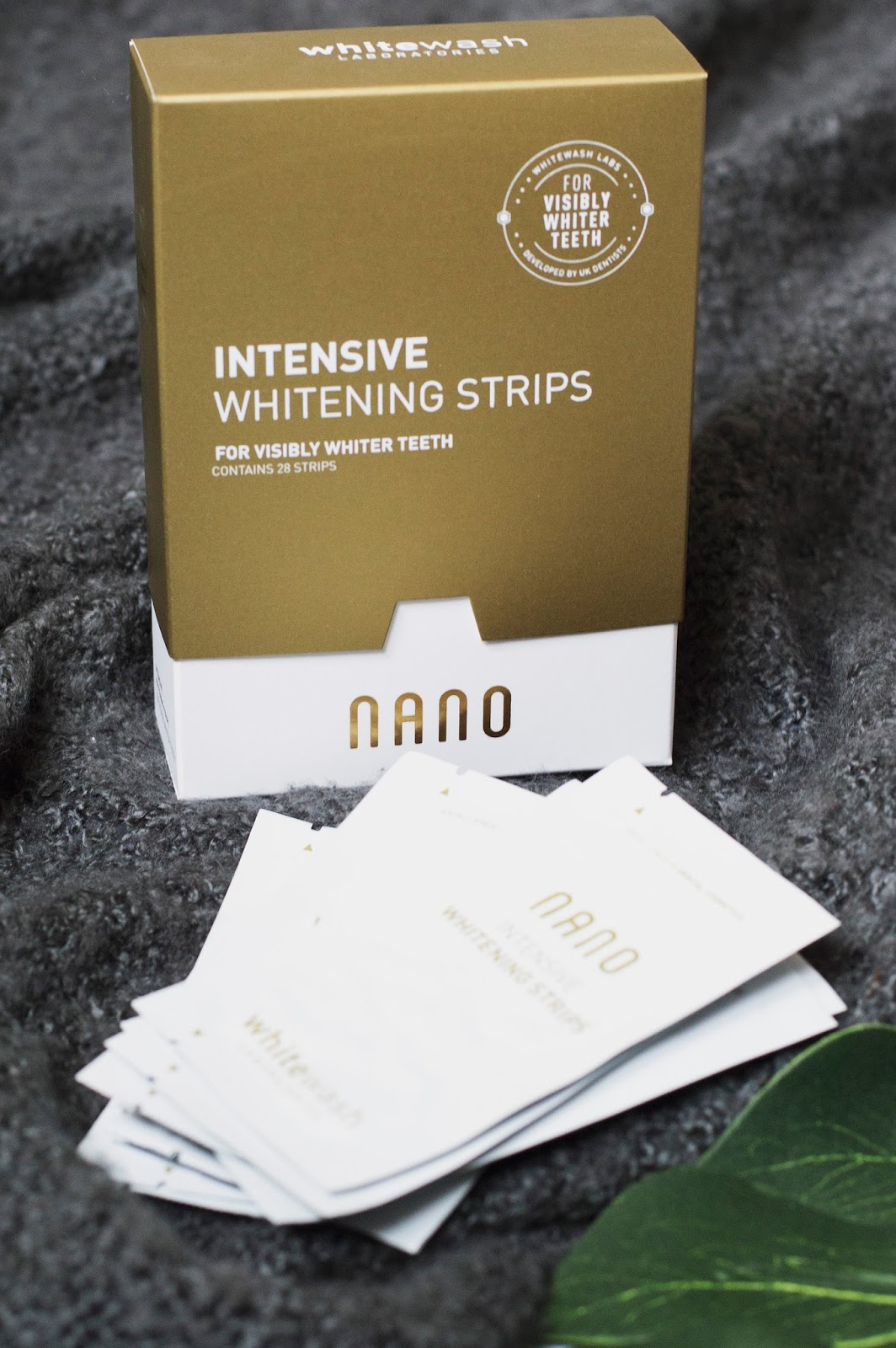 Teeth whitening, Nano intensive whitening strips, Whitewash Labs, whitening strips