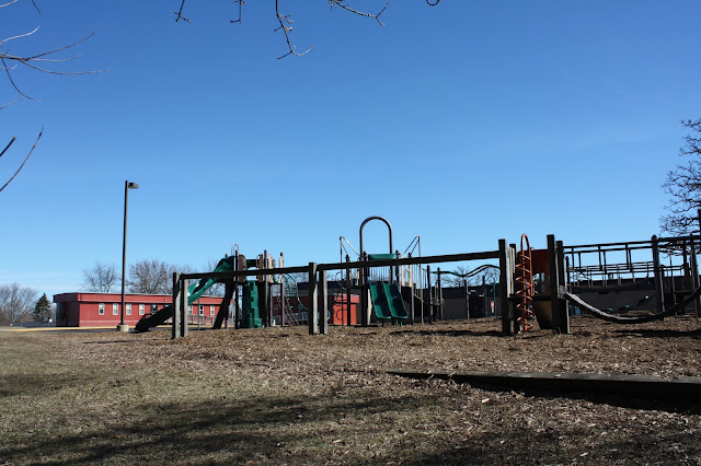 Playground near Hawthorne Hills Nature Center in Elgin, IL
