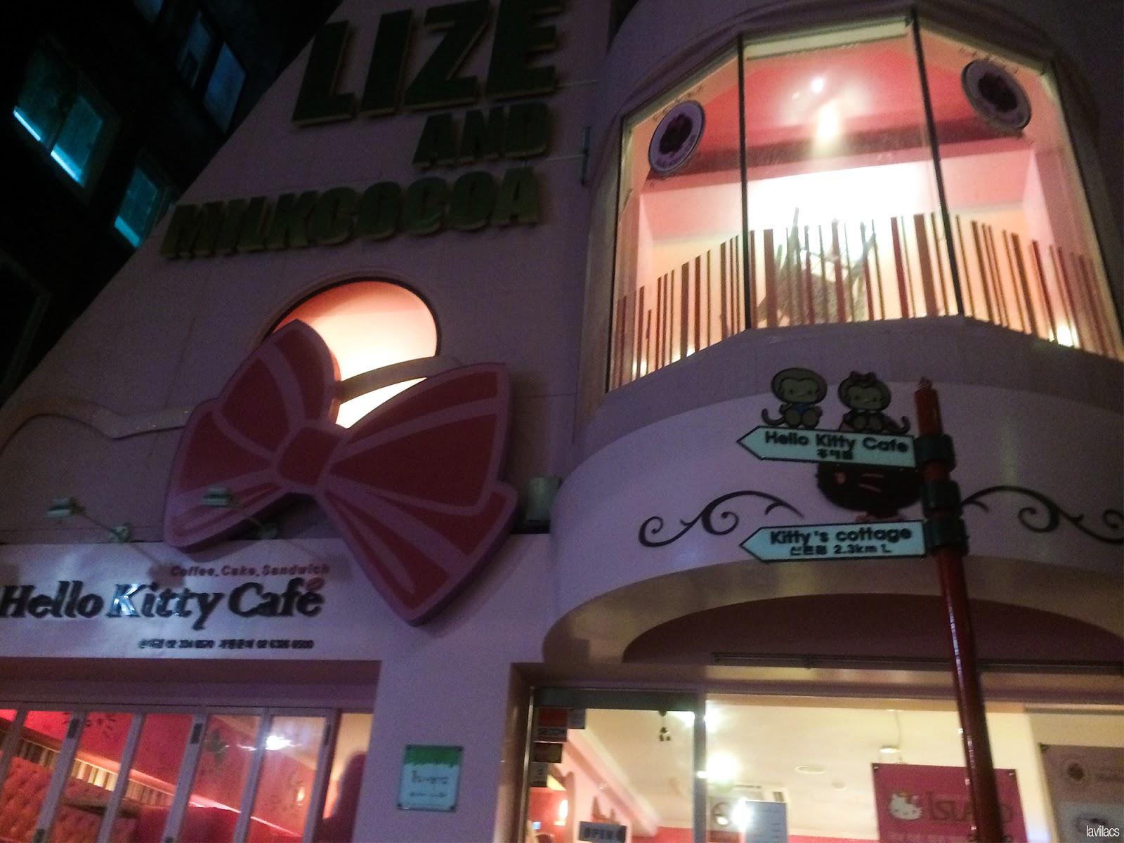 Seoul, Korea - Summer Study Abroad 2014 - Hongdae Hello Kitty Cafe outside