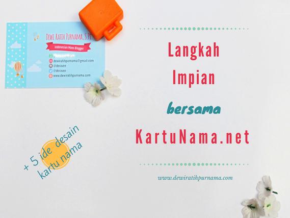 desain kartu nama