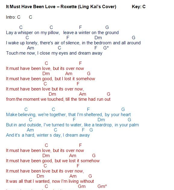 Love Song Lyrics For It Must Have Been Love 15