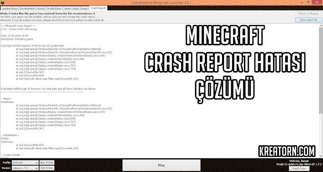 minecraft hata cozum