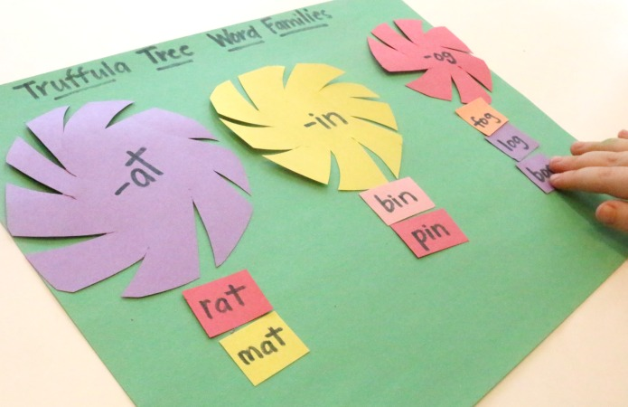 word families reading activity