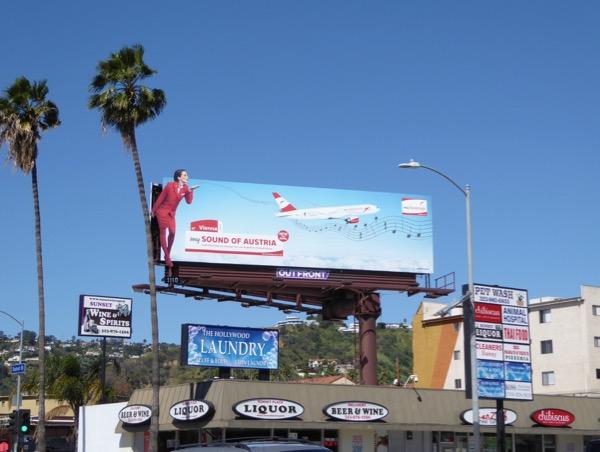 My Austrian extension airline billboard