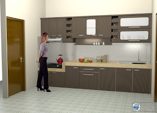Lemari Dapur Model Lurus - Straight Kitchen Set - Semarang Furniture