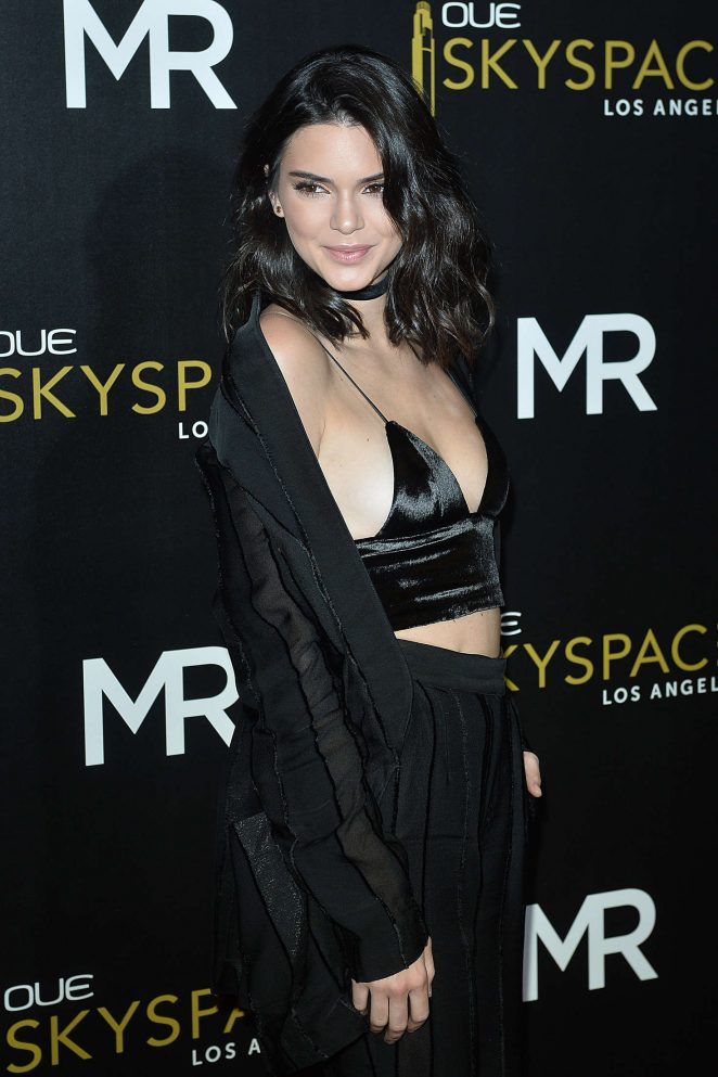Kendall Jenner bares side boob at the launch of OUE Skyspace in LA