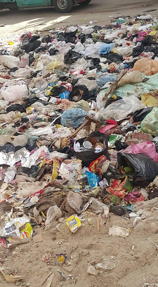 مشكلة القمامة و فضلات الاطعمة و المخلفات قائمة فى ابوكبير