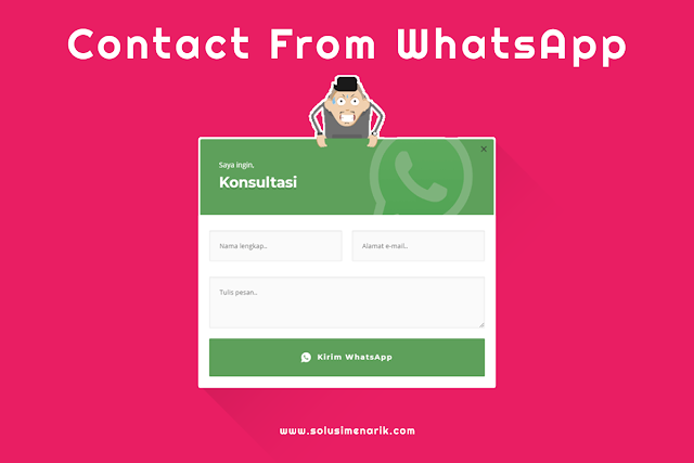 Cara Membuat Contact From WhatsApp di Blogger