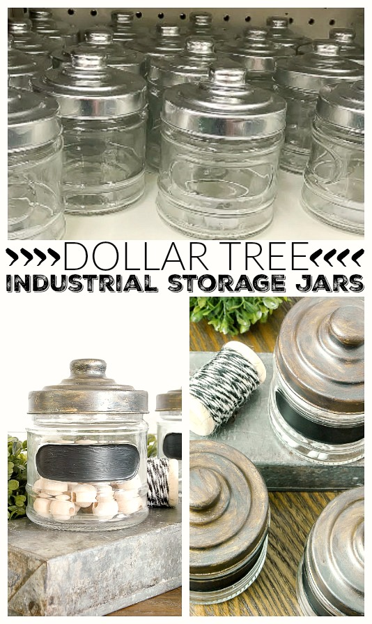 How to age inexpensive Dollar Tree storage jars