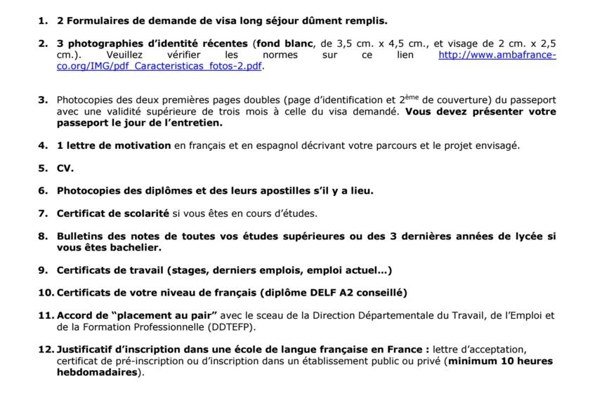 Tú Lo Puedes Hacer Documentos Para La Visa Au Pair Francia