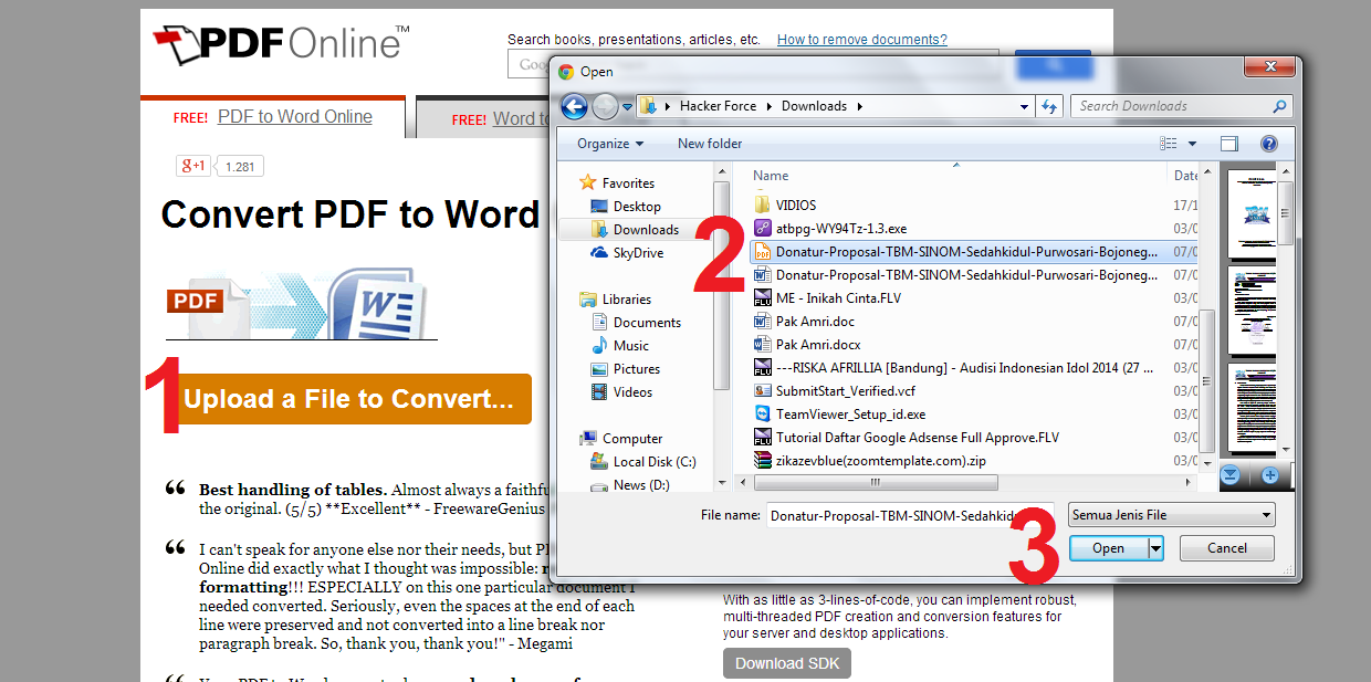 Membuat File PDF Ke Microsoft Word