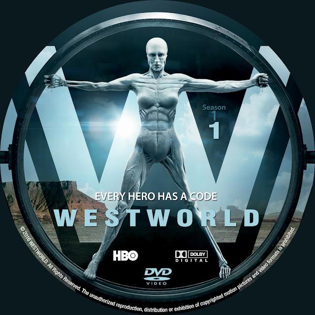 Label DVD Westworld Primeira Temporada Disco 1