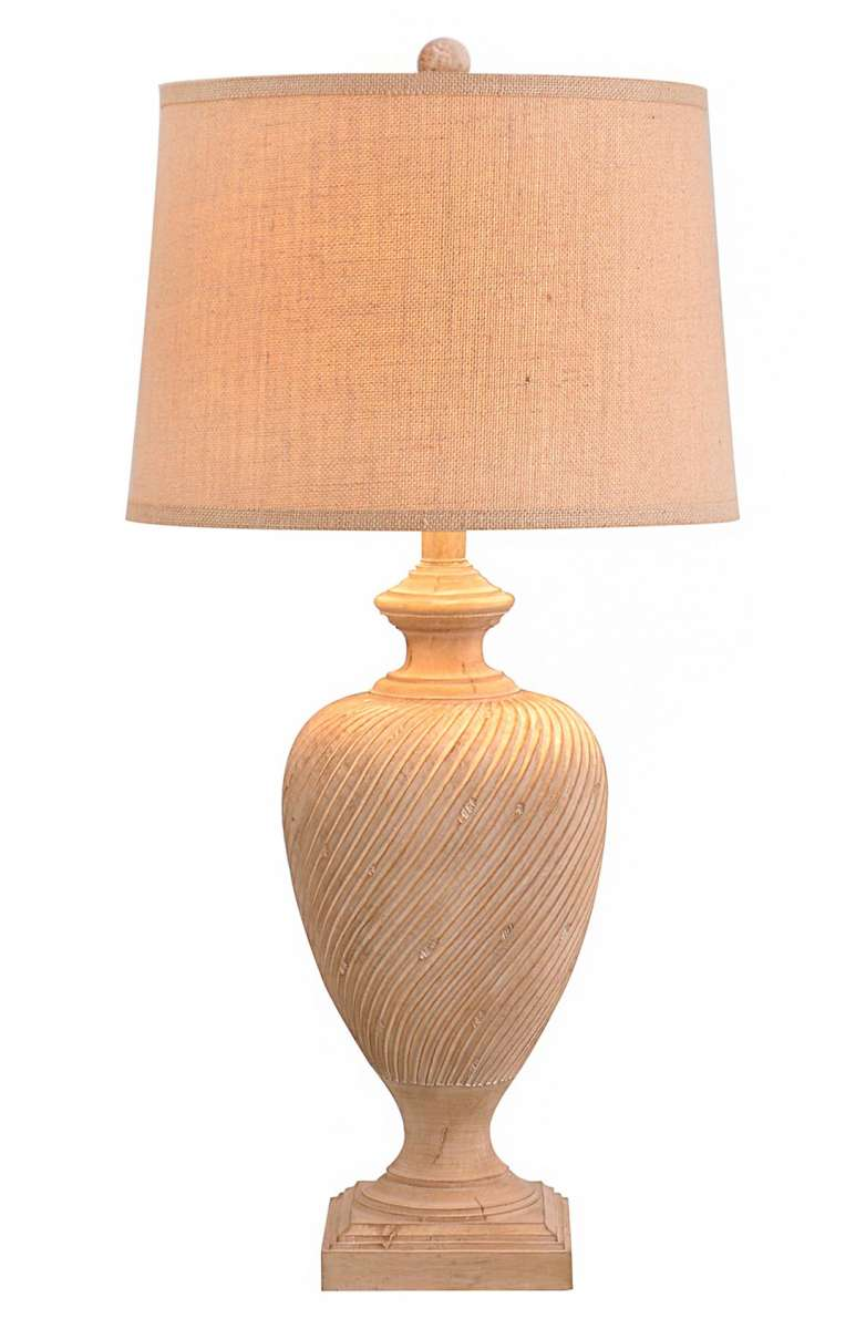 turned wood lamp french style