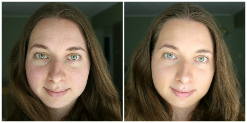 Maison Jacynthe Fluid Liquid Foundation Sable 02 Before After