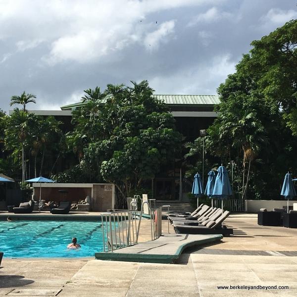 pool area at the Hilton Trinidad in Trinidad