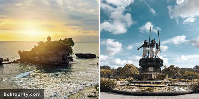 Half Day Denpasar City and Tanah Lot Temple Bali Sunset Tour Package, Full Day Bali Tours and Activities, Day Trips Itinerary, Private Bali Driver Hire