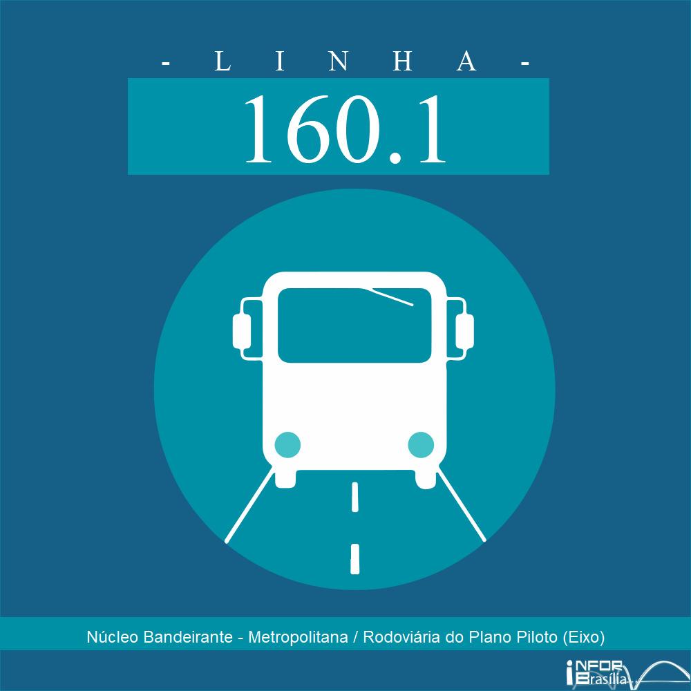 Horário de ônibus e itinerário 160.1 - Núcleo Bandeirante - Metropolitana / Rodoviária do Plano Piloto (Eixo)