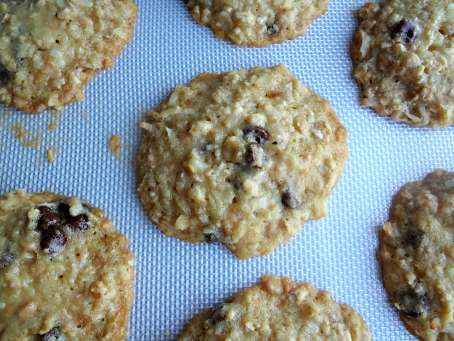 Coconut Toffee Oatmeal Chocolate Chip Cookies