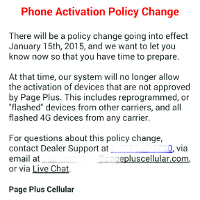 Page Plus To Block Flashed Phones After Jan 15 | Prepaid