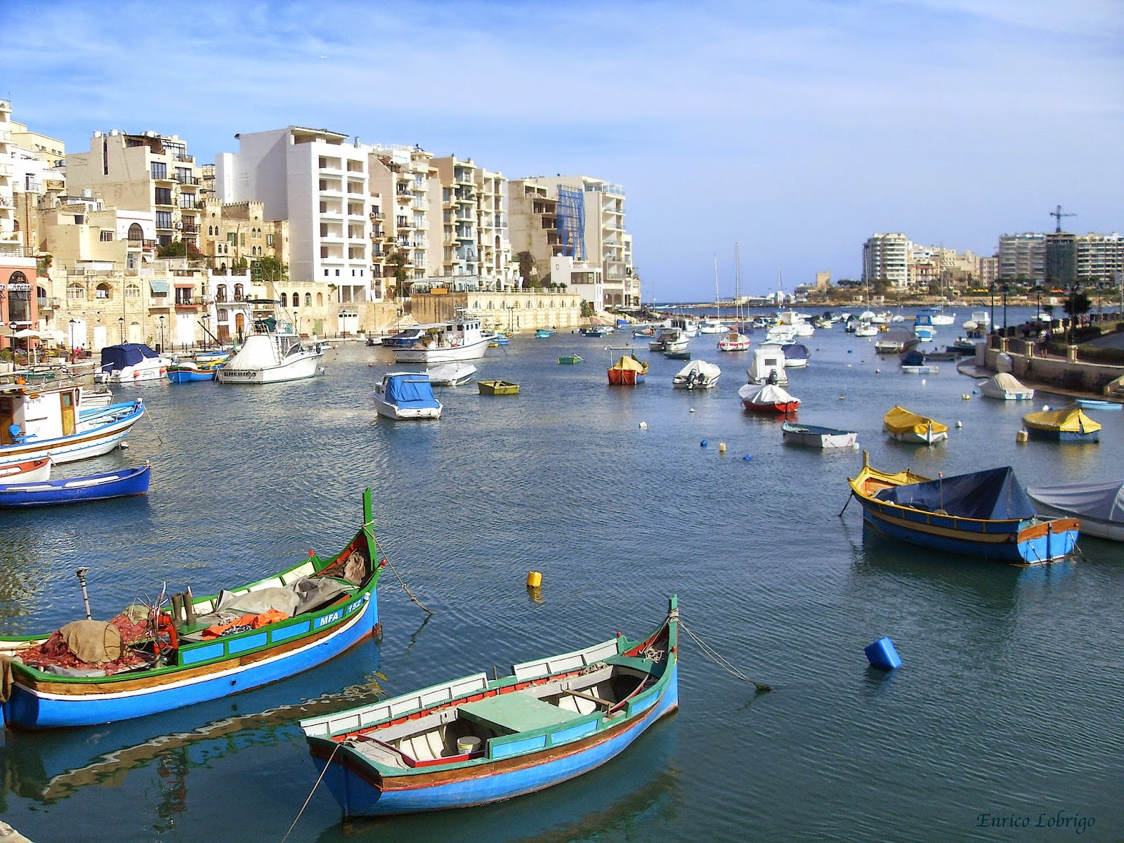 Colourful Fishing Boats, St. Julian's Bay, Malta