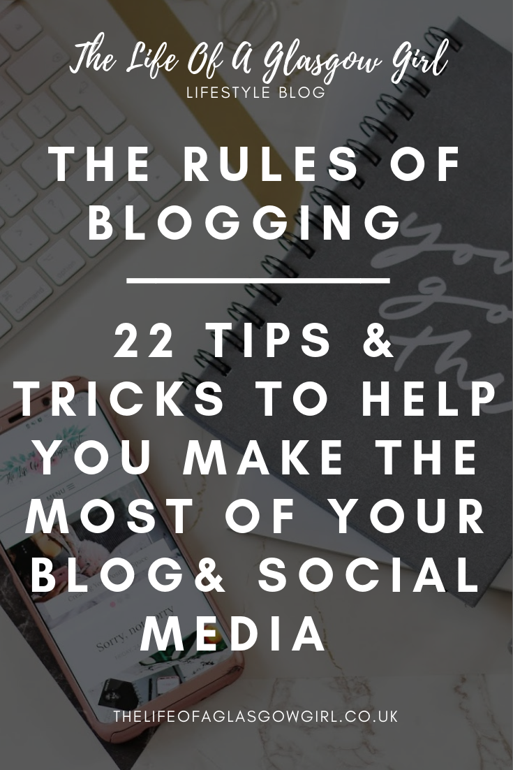 Pinterest image for The Rules of Blogging