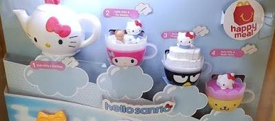 Игрушки из новых Happy meal 2017 Hello Kitty toys