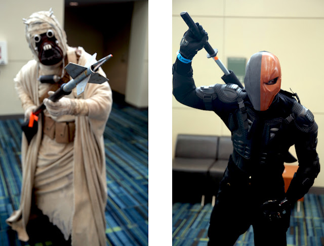 Star Wars Tusken Raider and DC Universe DeathStroke at NC Comicon in Raleigh