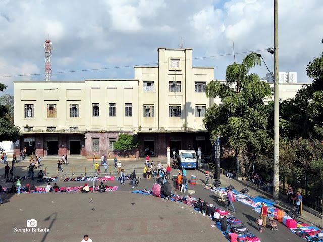 Vista ampla da fachada da Estação Brás - CPTM - Brás - São Paulo