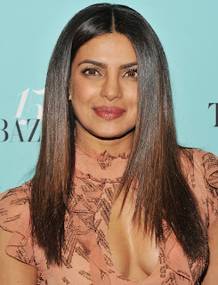 Priyanka Chopra lovely Evening Gown at Harpers BAZAAR 150th Anniversary at The Rainbow Room New York