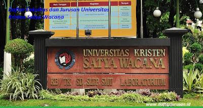 Daftar Fakultas dan Jurusan Universitas Kristen Satya Wacana Terbaru