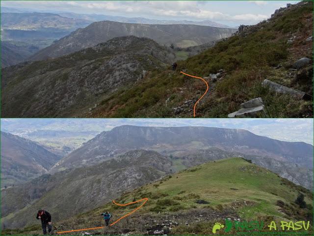Senda del Chorrón y Foz del Río Valle: Subiendo al Cantu Cobil