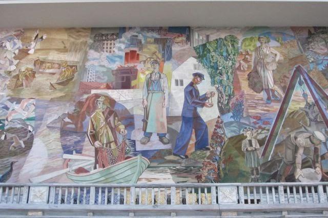 Oslo Stadhuis wandschildering