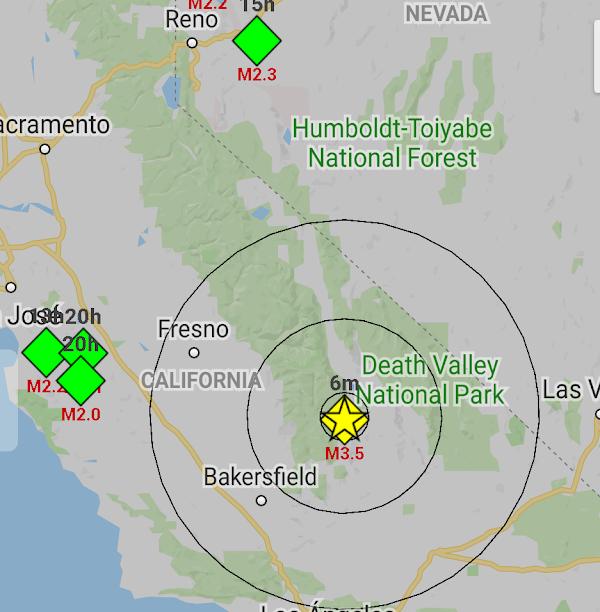 Reportan sismo en california.