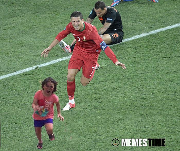 Meme Cristiano Ronaldo e a Menina que fugiu do pavão – O Mundo é uma Aldeia…e a Internet?