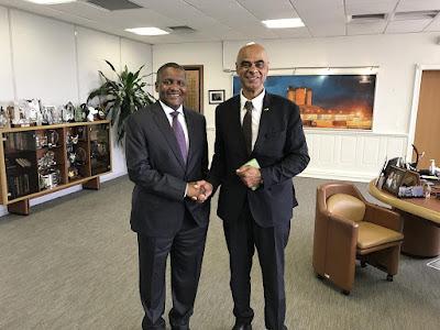 Bundestag it was a pleasure to meet Aliko Dangote again in his Lagos office.