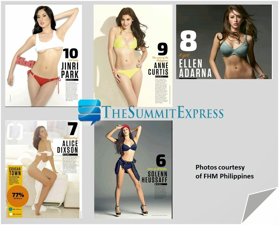 PHOTOS: Top 10 FHM 'Sexiest Women' in the Philippines 2014