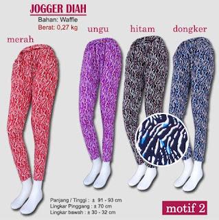 celana jogger motif model baru - diah motif 2