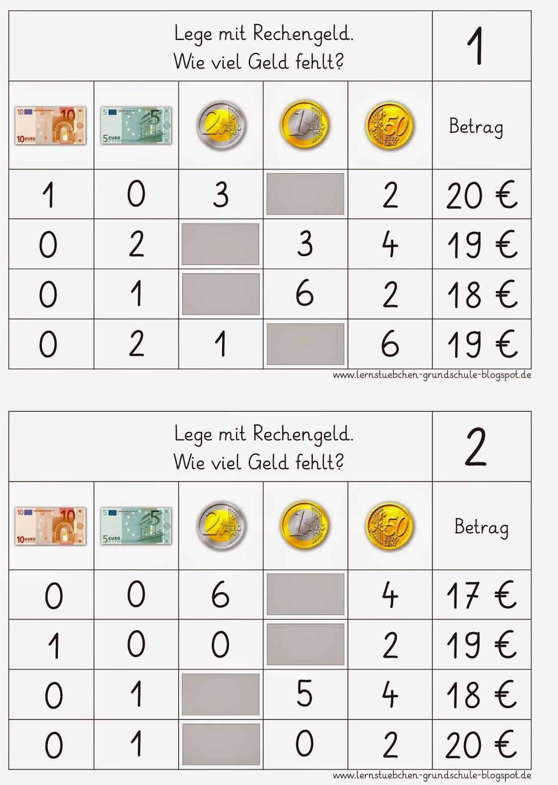 57 Arbeitsblatt Mathe Rechnen Mit Geld