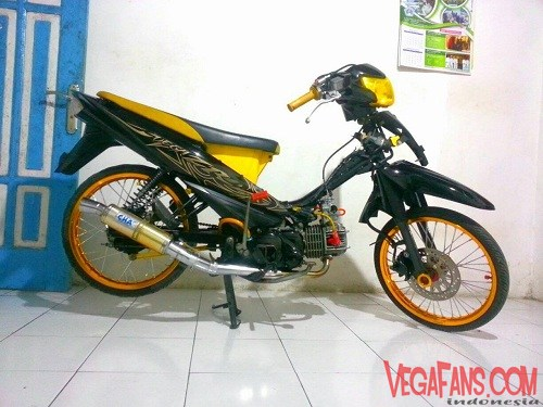 Vega ZR Modif Simple Hitam Kuning